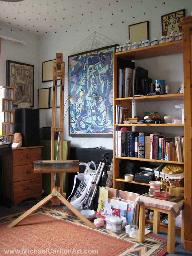 Michael Carlton Art Studio Photo